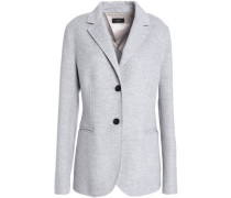 Wool And Cashmere-blend Felt Blazer Stone
