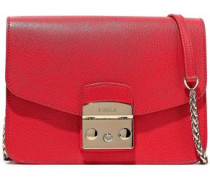 Metropolis Textured-leather Shoulder Bag Red Size --