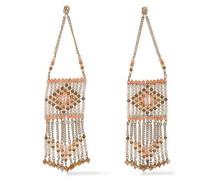 Woman Gold-tone Bead Earrings Peach