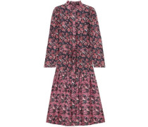 Marijn Dunegrass Printed Silk Midi Dress Navy Size 0