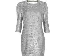 Open-back sequined crepe mini dress