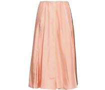 Pleated Silk Midi Skirt Peach
