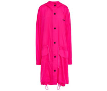 Woman Neon Shell Hooded Jacket Bright Pink