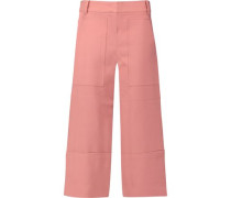 Anson cropped canvas culottes