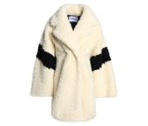 Two-tone faux shearling coat