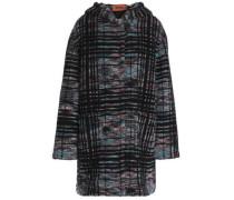 Wool-blend bouclé hooded coat