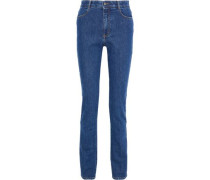 Woman High-rise Slim-leg Jeans Mid Denim