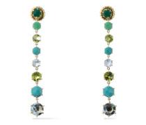 18-karat gold multi-stone earrings