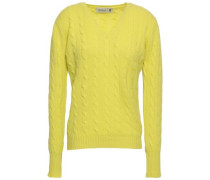 Cable-knit Cashmere Sweater Chartreuse