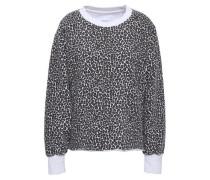 Leopard-print Cotton-fleece Sweatshirt Animal Print Size 0