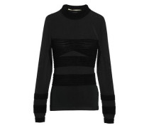 Burnout Knitted Top Black