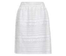 Guipure Lace Skirt White