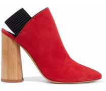 Drum Suede Slingback Ankle Boots Tomato Red