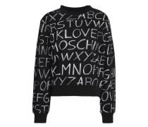 Printed cotton-terry sweatshirt