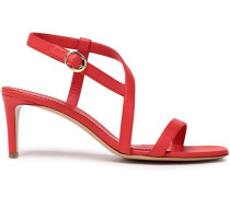 Woman Leather Sandals Red