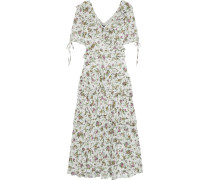 Woman Deandra Tiered Floral-print Georgette Midi Dress Ivory
