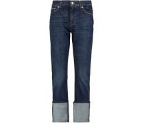 Roll Up Straight high-rise slim-leg jeans