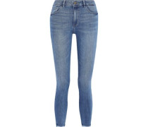 Burton Cropped Faded Mid-rise Skinny Jeans Mid Denim  5