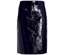 Crinkled patent-leather skirt