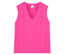 Astrid Pleated Crepe Top Bright Pink Size 12
