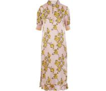 Aksinja floral-print silk-jacquard midi dress