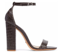 Enida croc-effect leather sandals