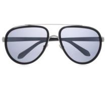 Aviator-style Acetate Sunglasses Black Size --
