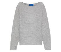 Fay Open-knit Mohair And Wool-blend Sweater Stone Size 1