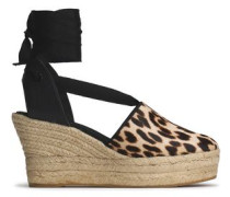 Leopard-print Calf Hair Wedge Espadrilles Animal Print