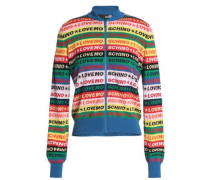 Intarsia Cotton Cardigan Multicolor