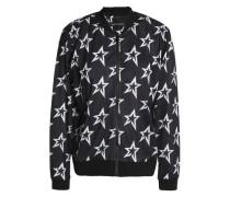 Printed mesh bomber jacket
