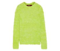 Woman Leta Metallic Wool-blend Sweater Lime Green