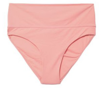 Brussels Printed Mid-rise Bikini Briefs Baby Pink