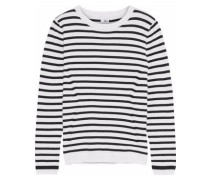 Tara striped cotton and cashmere-blend sweater