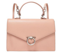 Woman Chain-trimmed Pebbled-leather Backpack Blush