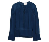 Silk Blouse Royal Blue