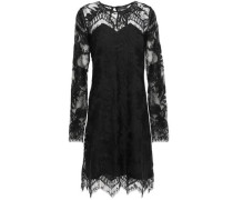 Scalloped Lace Dress Black