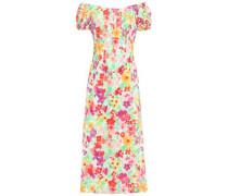 Off-the-shoulder Stretch-cotton Midi Dress Multicolor