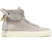 Embellished suede high-top sneakers