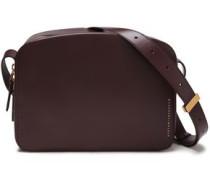 Woman Vanity Leather Shoulder Bag Dark Purple