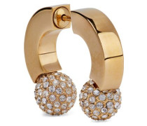 Gold-tone Crystal Earring Gold Size --