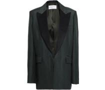 Paneled Shantung Blazer Army Green Size 14