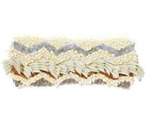 Embellished Crochet-knit Headband Cream Size ONESIZE