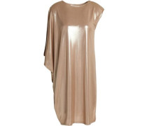 Asymmetric Lamé Dress Gold