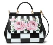 Sicily Printed Textured-leather Shoulder Bag Black Size --
