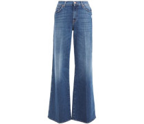 Woman Lotta High-rise Wide-leg Jeans Mid Denim