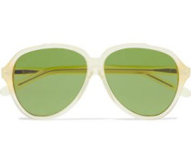 Charge aviator-style acetate sunglasses
