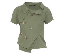 Liana one-shoulder cotton-twill jacket