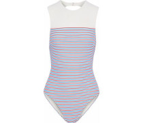 The Sharon cutout striped swimsuit