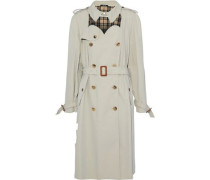 Double-breasted Cutout Cotton-twill Trench Coat Beige